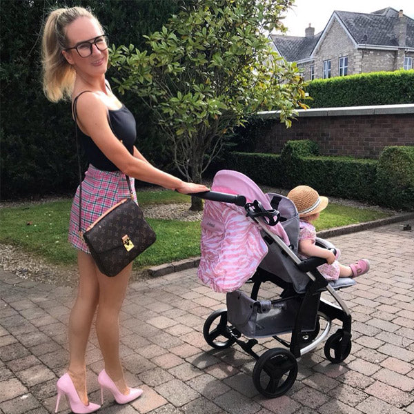 My Babiie Dani Dyer Pink and Grey pushchair
