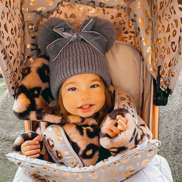 My Babiie Katie Piper Rose Gold Blush Leopard Lightweight Stroller