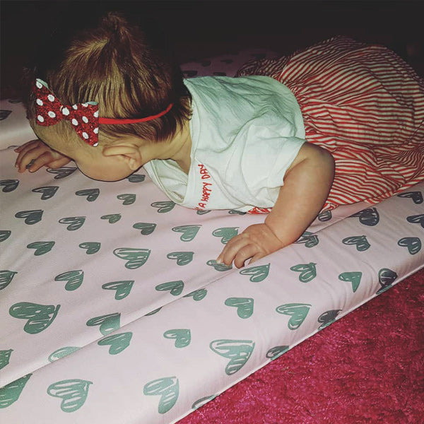 My Babiie Katie Piper Pink Hearts Changing Mat