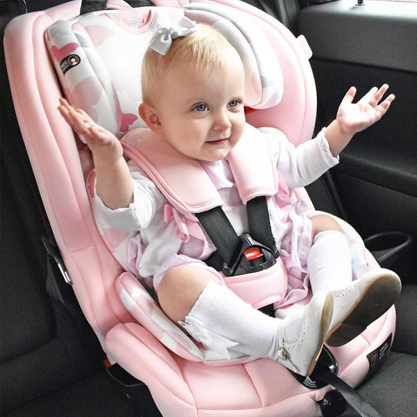 My Babiie Katie Piper Pink Butterflies Group 123 Isofix Car Seat