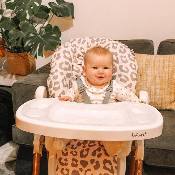 My Babiie Katie Piper Blush Leopard Highchair