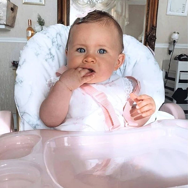 My Babiie Nicole Snooki Polizzi Rose Gold Marble Highchair