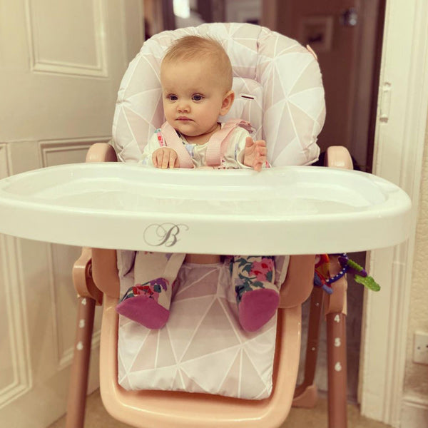 My Babiie Billie Faiers Geometric Rose Gold Highchair