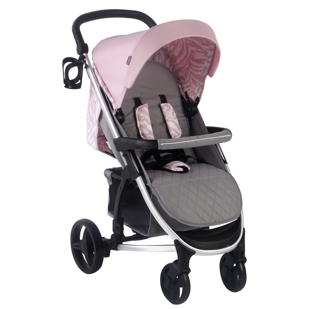 My Babiie Dani Dyer Pink & Grey Travel System