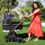 Christina Milian Rose Gold and Black Belgravia Travel System