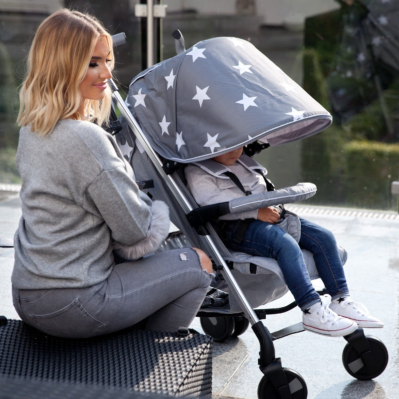 Billie Faiers Grey Stars Lightweight Stroller