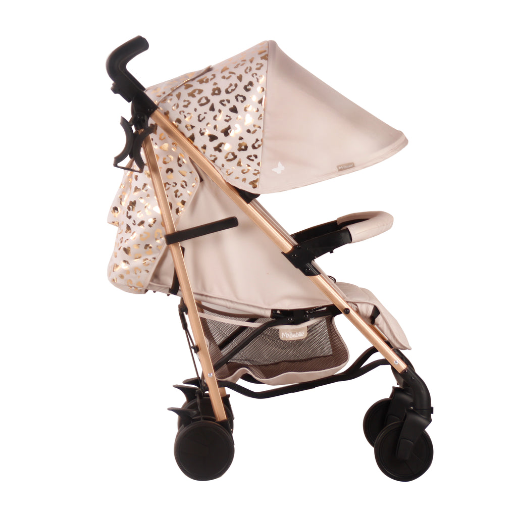 Katie Piper Rose Gold Blush Leopard Lightweight Stroller