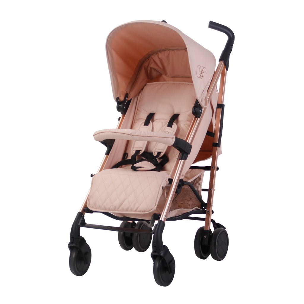 My Babiie AM to PM MB51 Charcoal Stripes Rose Gold Stroller