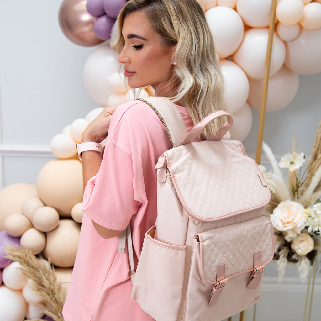 My Babiie Billie Faiers Blush Backpack Changing Bag