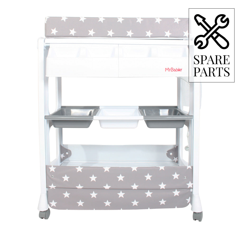 Spare Parts for My Babiie Grey Stars Baby Bath & Changing Unit