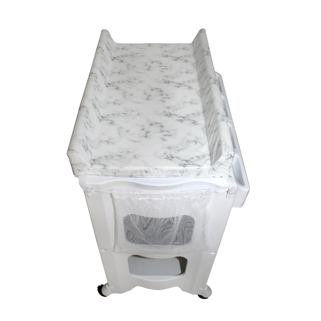 Grey Marble baby bath and changing unit