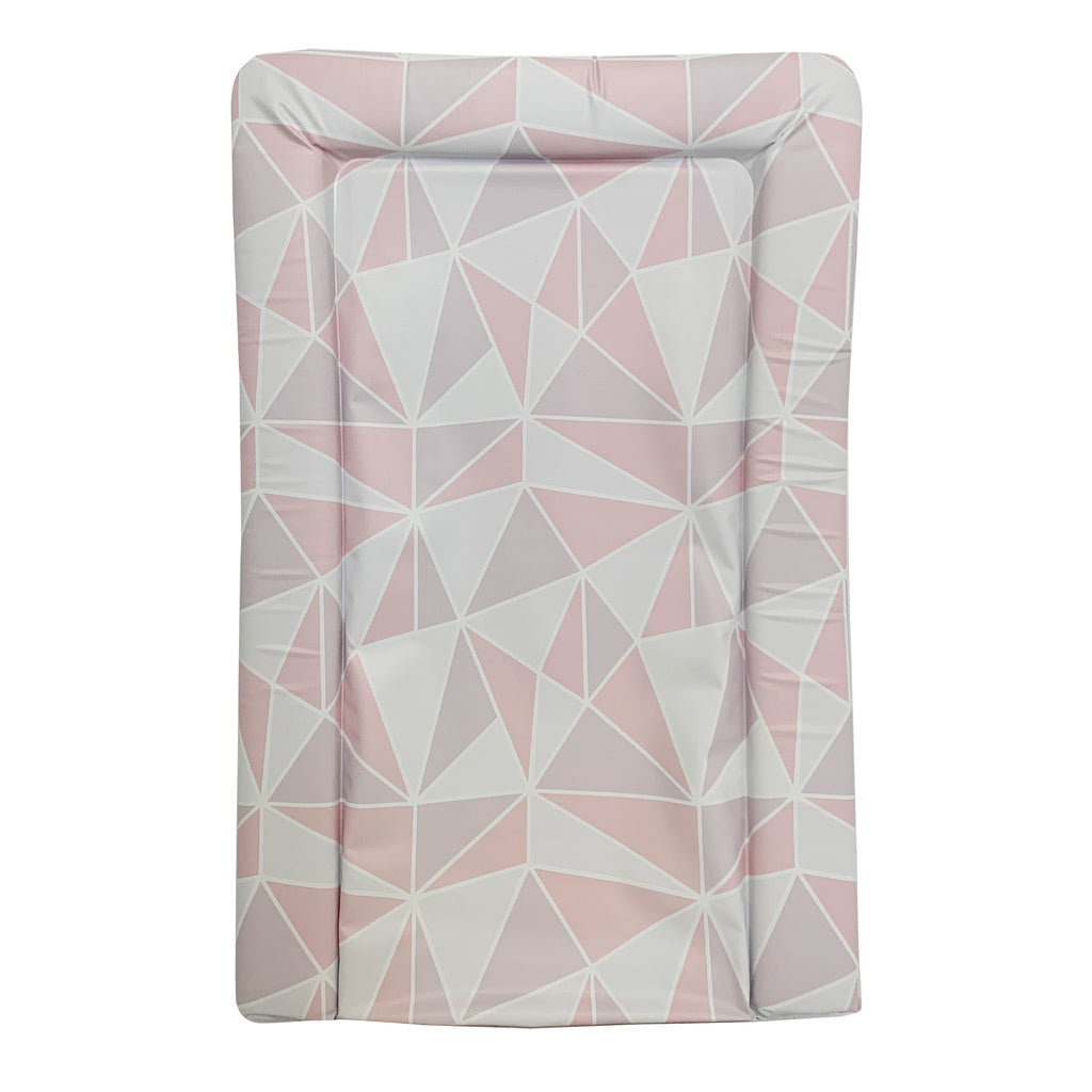 Pink Geometric Changing Mat