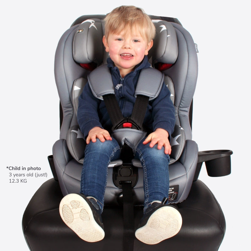 Group 1/2/3 Grey Stars Isofix Car Seat