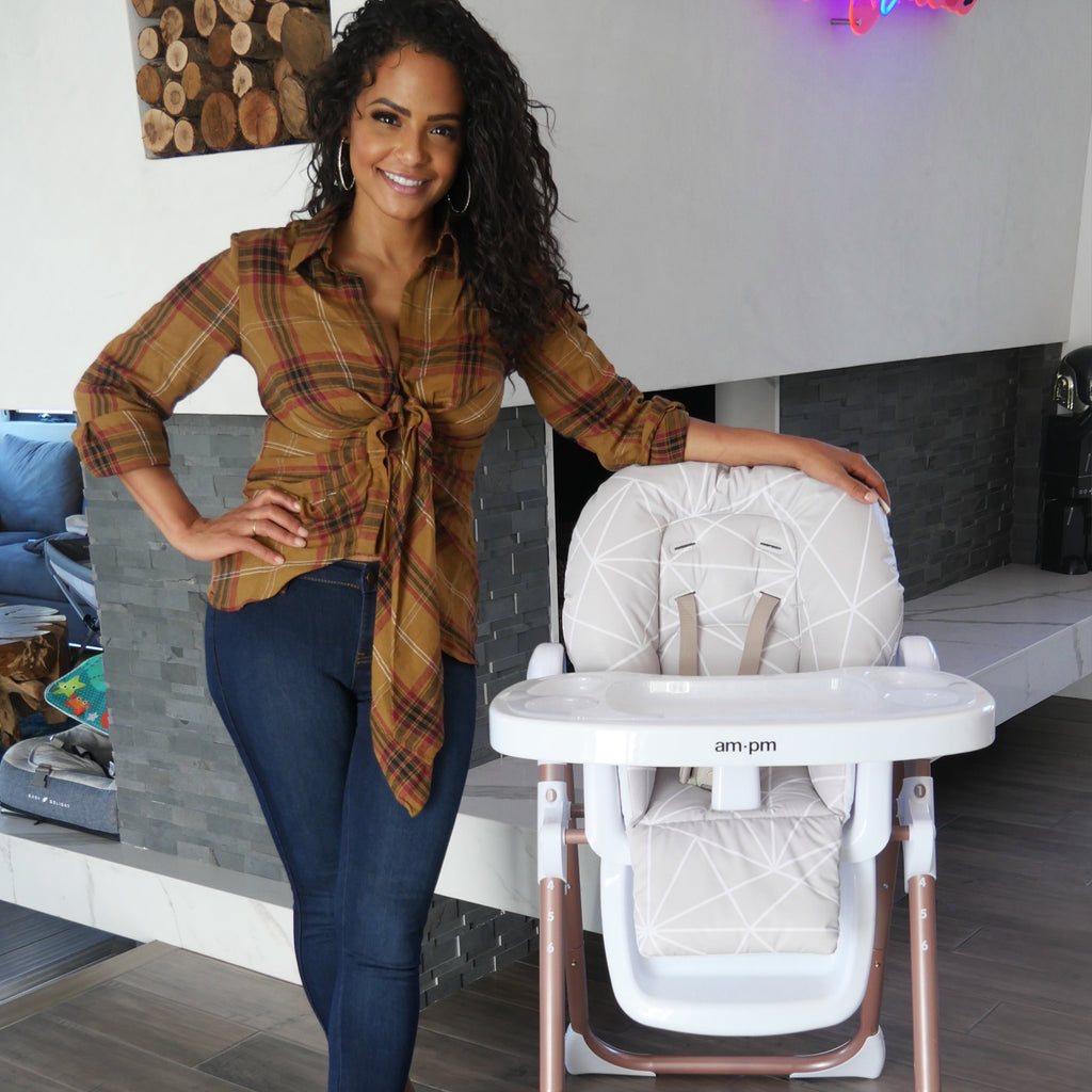 Christina Milian Geometric Mocha Premium Highchair