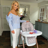Katie Piper Blush Leopard Highchair