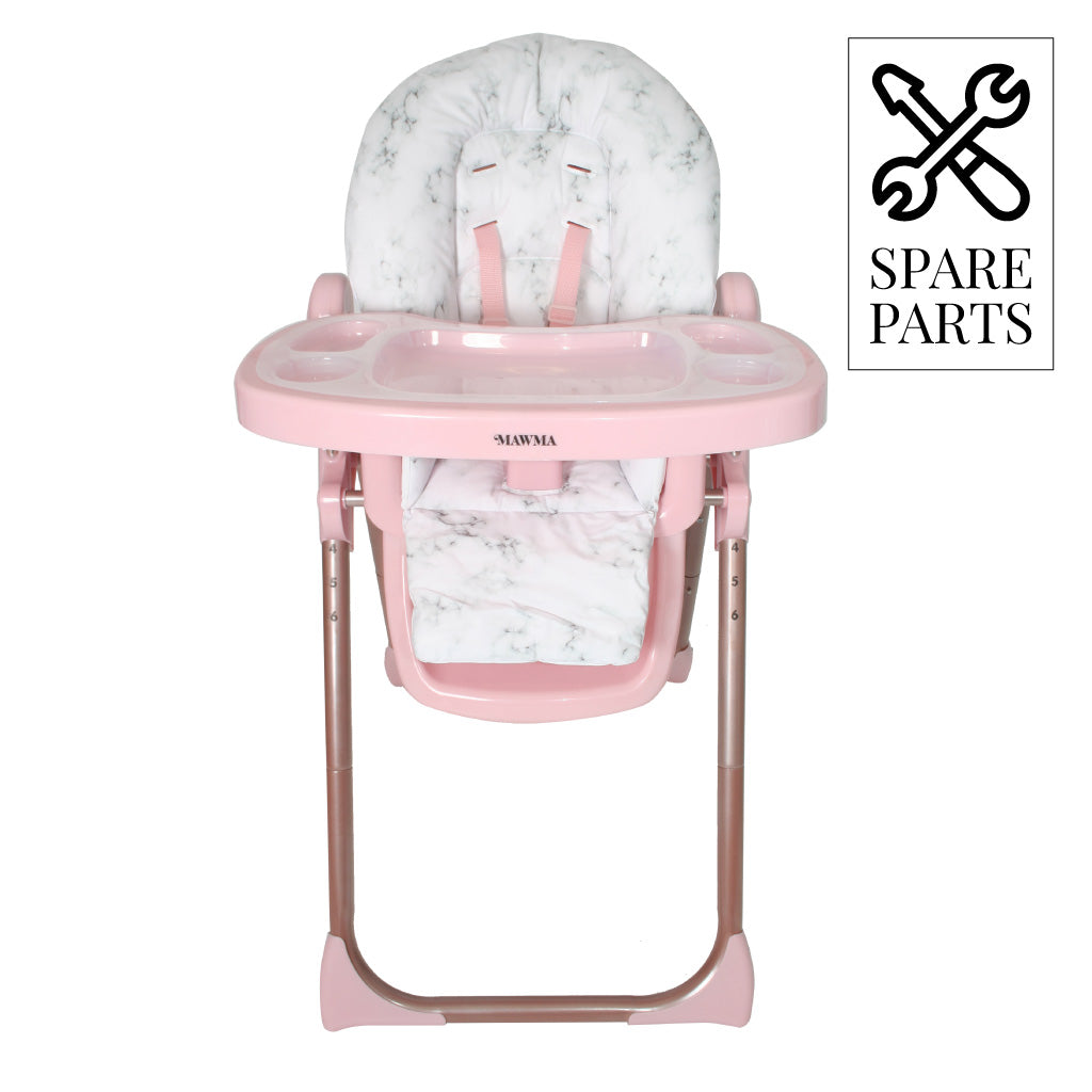 "Spare Parts for Nicole ""Snooki"" Polizzi Rose Gold Marble Highchair"