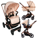 My Babiie Christina Milian Rose Gold and Blush Belgravia Travel System