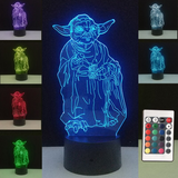 Yoda Colorful LED Night Lamp
