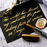 Gold Paint Marker Water-base Marker Pen for Ceramics Glass Fabric Leather Dark Paper Painting Doodling DIY Arts&crafts