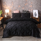 Denisroom Bedding Set Luxury Duvet Cover Sets bedspreads Bed Set black White King double bed comforters No Sheet XY58#