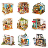 Lily's Porch DG11 - Robotime DIY Wooden Miniature Dollhouse 1:24 Handmade Doll House Model Building Kits Toys For Children Adult Drop Shipping