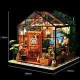 Cathy's Flower House DG104 - Robotime DIY Wooden Miniature Dollhouse 1:24 Handmade Doll House Model Building Kits Toys For Children Adult Drop Shipping