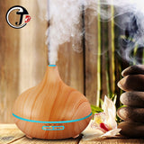 New 550ml Wood Essential Oil Diffuser Ultrasonic USB Air Humidifier with 7 Color LED Lights Remote Control Office Home Difusor
