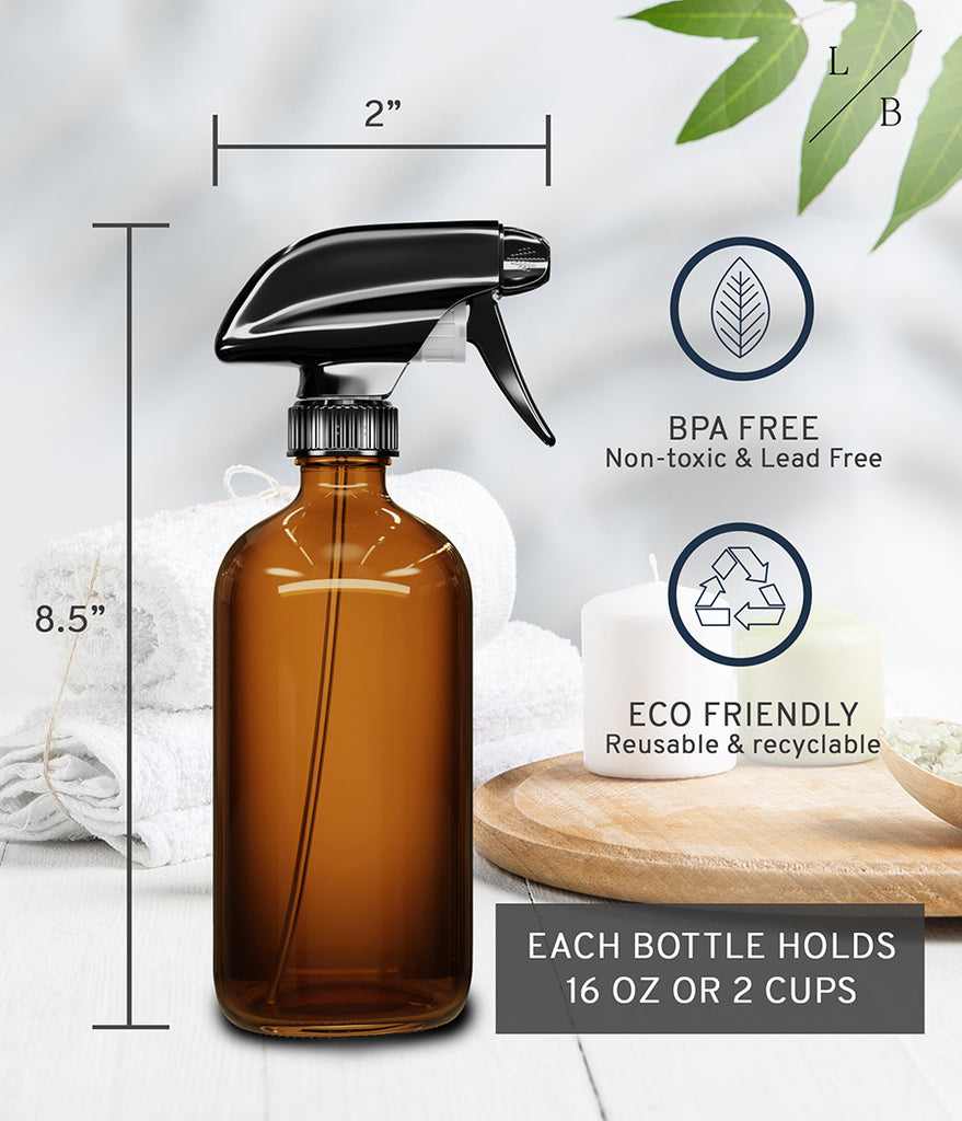 Amber Glass spray bottle 2 pack - Liba