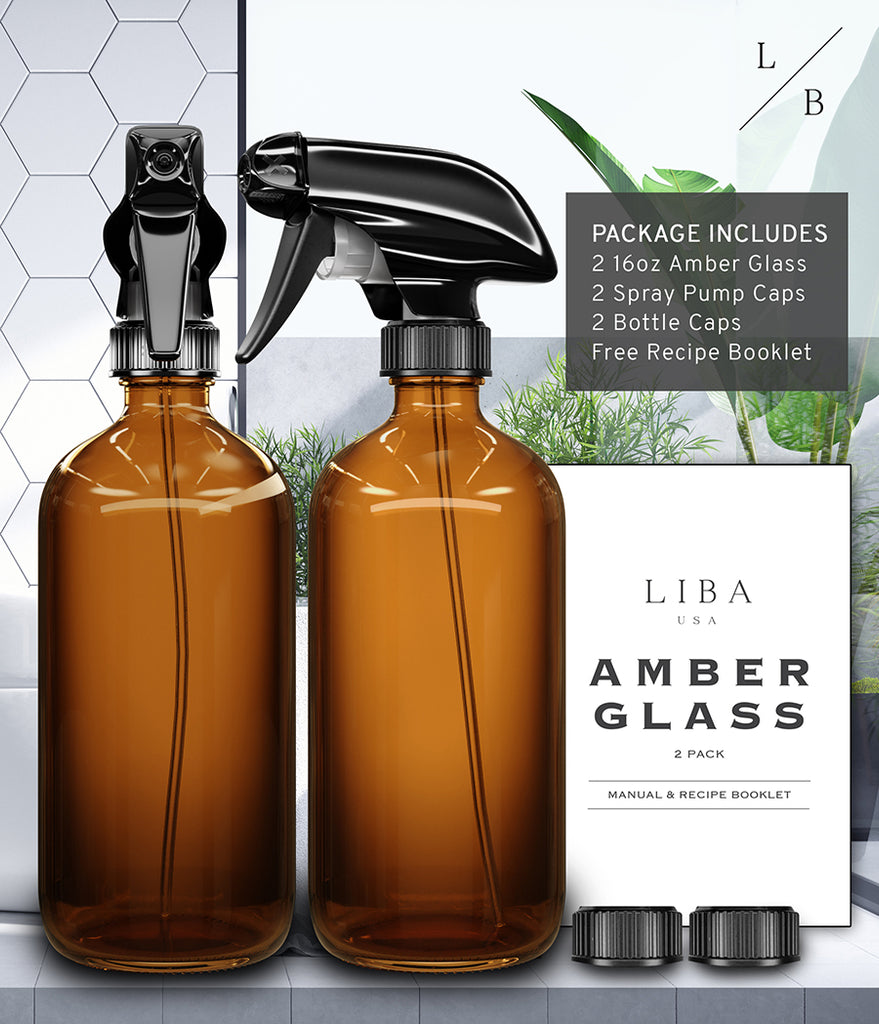 Amber Glass spray bottle bundle