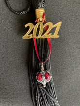 Load image into Gallery viewer, Harvard University Gifts -- Handcrafted Crystal & Glass Tassel Charm