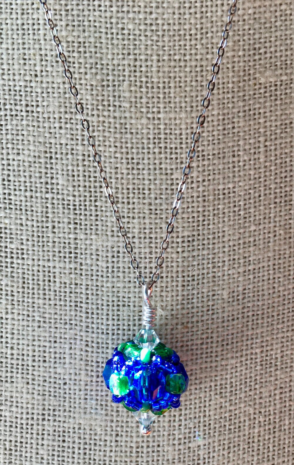 Williston Northampton School Gifts -- Handcrafted Crystal & Glass Proud of U. ™ Necklace