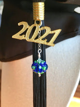 Load image into Gallery viewer, Williston Northampton School Gifts -- Handcrafted Crystal & Glass Proud of U.™ Tassel Charm