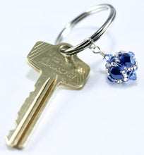 Load image into Gallery viewer, Penn State University Gifts -- Handcrafted Crystal & Glass Proud of U.™ Key Chain