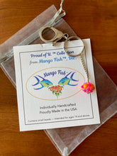 Load image into Gallery viewer, Rhode Island School of Design Gifts -- Handcrafted Crystal & Glass Proud of U.™  Key Chain