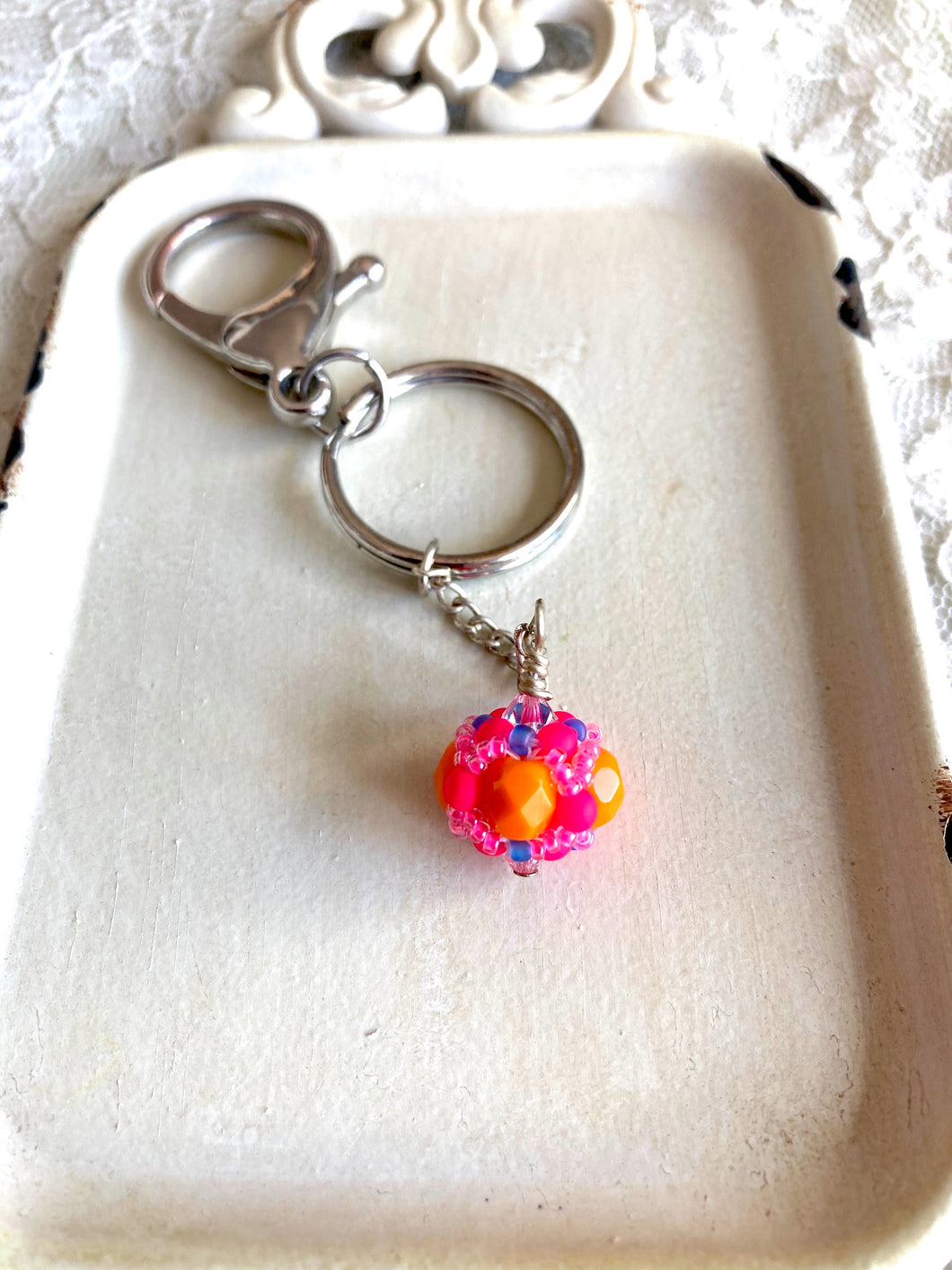 Rhode Island School of Design Gifts -- Handcrafted Crystal & Glass Proud of U.™  Key Chain