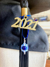 Load image into Gallery viewer, University of Maine Gifts -- Handcrafted Crystal & Glass Proud of U.™ Graduation Cap Tassel Charm