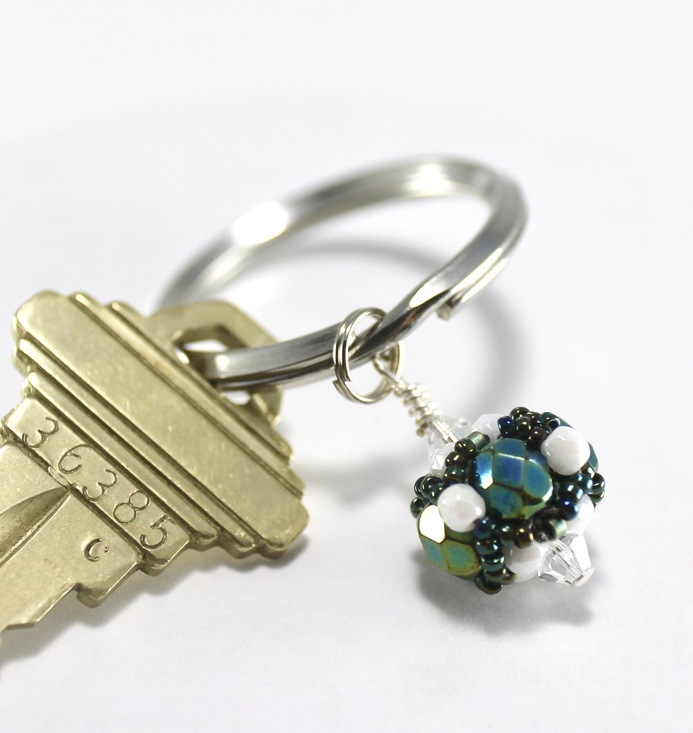 Deerfield Academy Gifts -- Handcrafted Crystal & Glass Proud of U.™ Key Ring