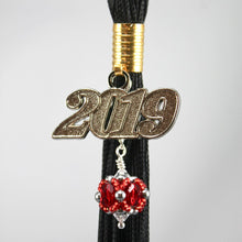 Load image into Gallery viewer, Easthampton High School Gifts -- Handcrafted Crystal & Glass Proud of U.™ Tassel Charm