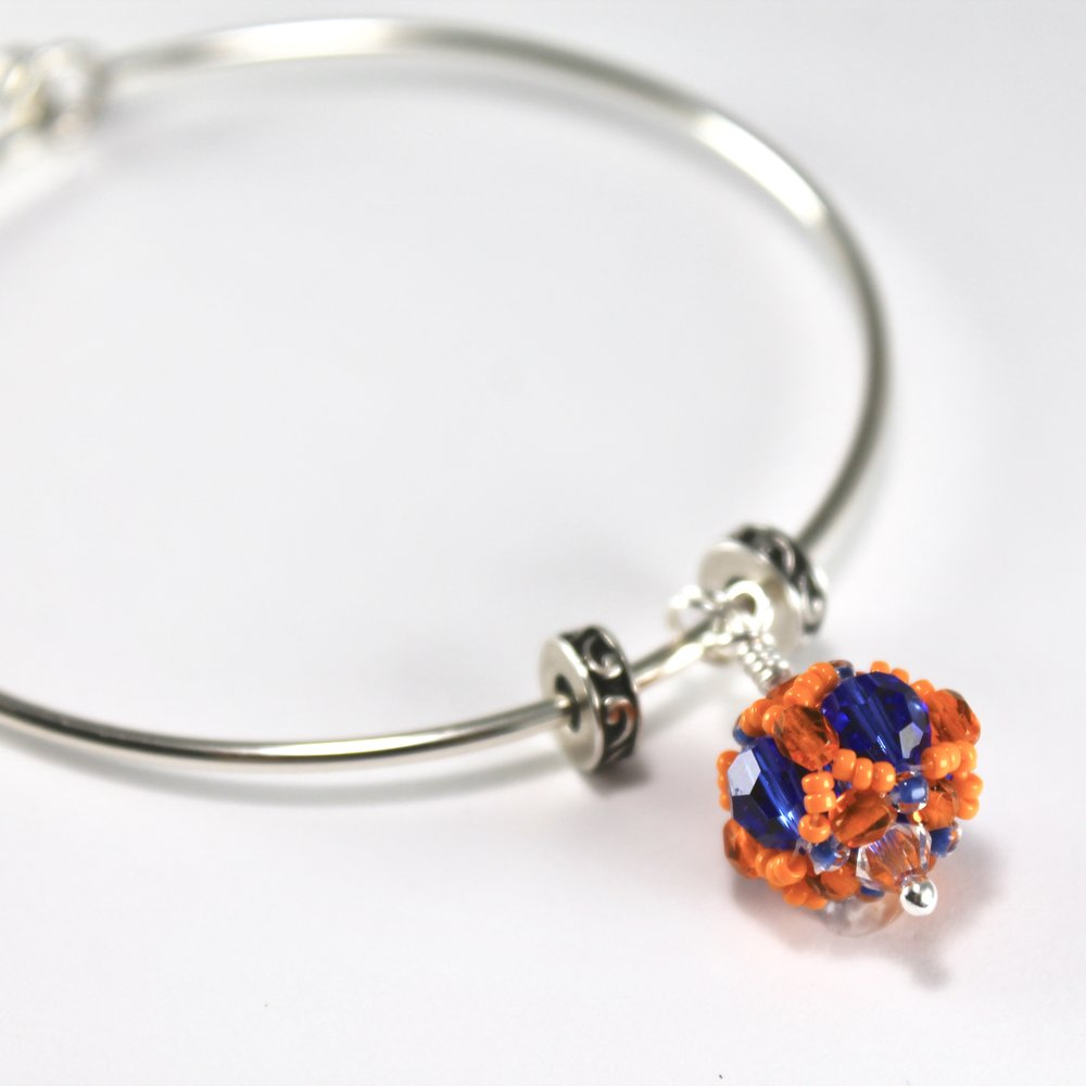 Danbury High School Gifts -- Handcrafted Crystal & Glass Proud of U.™ Bracelet