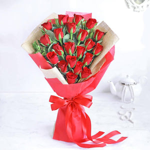 20 Roses Hand Bouquet - Carnations Florist Malaysia