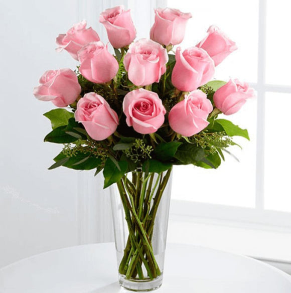 Roses in Vase - Carnations Florist Malaysia