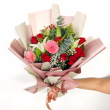 Pink Flowers Bouquet - Carnations Florist Malaysia