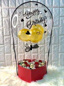 Birthday Balloon with Roses and Choc - Carnations Florist Malaysia