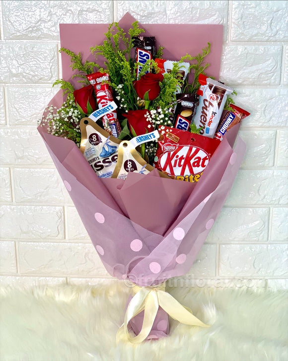 Choca Lot Bouquet - Carnations Florist Malaysia