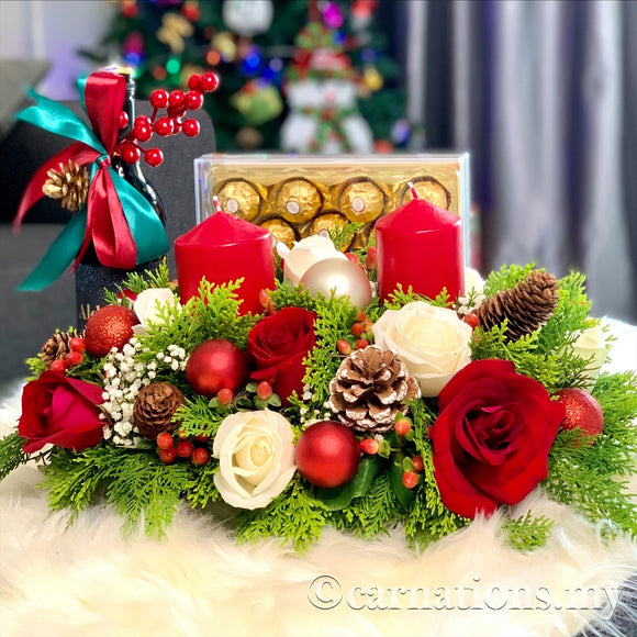Candle Light Christmas Set 2 - Carnations Florist Malaysia