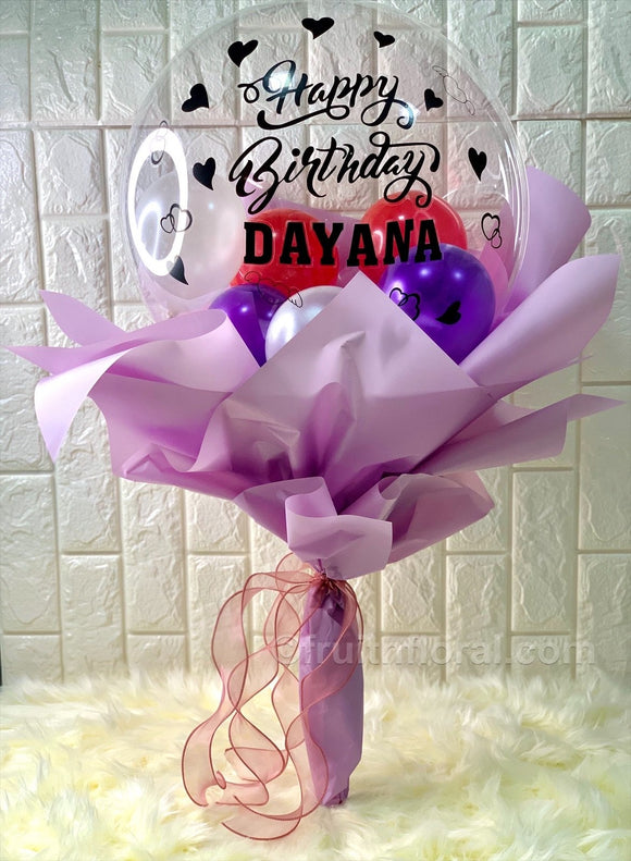 Birthday Balloon Bouquet - Carnations Florist Malaysia