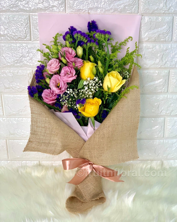 Delightful Hand Bouquet - Carnations Florist Malaysia