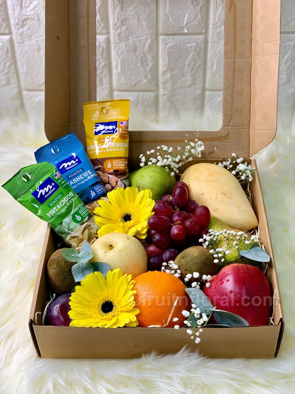 Fruits and Nuts Box - Carnations Florist Malaysia