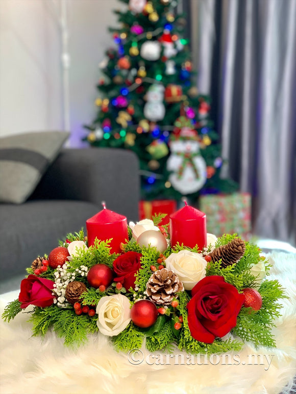 Candle Light Christmas Set 1 - Carnations Florist Malaysia
