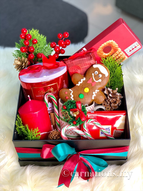 GingerRed Box - Carnations Florist Malaysia